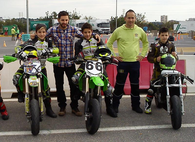 Héctor Faubel visita a los pilotos de KSB SPORT