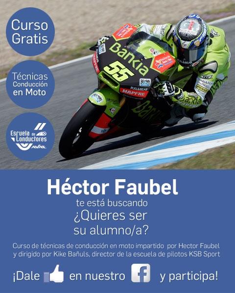Consigue un curso de conducción en Moto impartido por Héctor Faubel