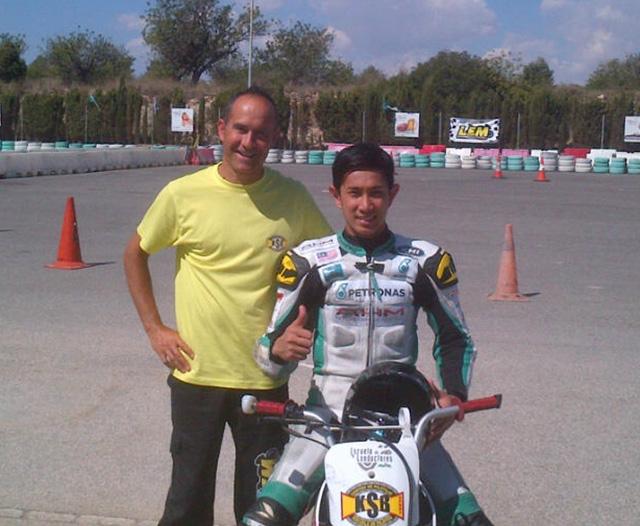 El piloto malayo de Petronas, Ramdan Rosli confía su entrenamiento a KSB SPort