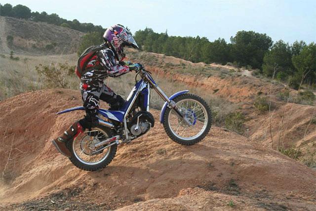 El miercoles tocó ruta de motocross