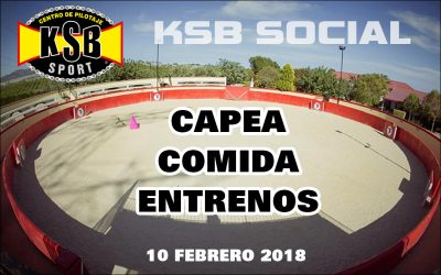 KSB SOCIAL: Capea, comida y entrenos