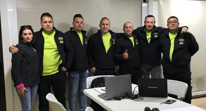 Reunión de parte del equipo KSB Sport en Madrid
